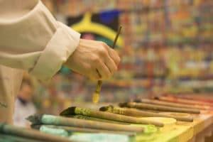 Mesa paleta Taller de pintura